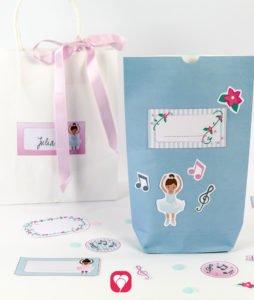 Ballerina Geburtstagsset Basic - Geschenkaufkleber
