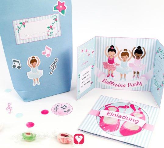 Ballerina Geburtstagsset Basic - balloonas
