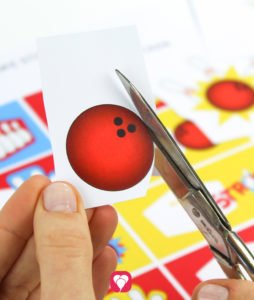Bowling Geschenkaufkleber - Motive ausschneiden