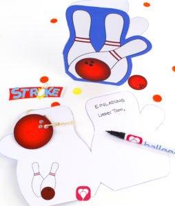 Bowling Geburtstagsset Basic - Einladungskarte