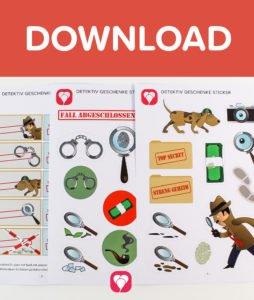 Detektiv Geschenkaufkleber - Download