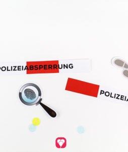 Detektiv Geschenkaufkleber - Motive