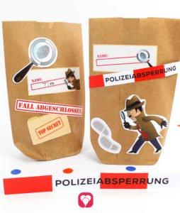 Detektiv Geburtstagsset Basic - Geschenkaufkleber