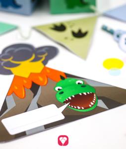 Dino Geburtstagsset Basic - Einladung