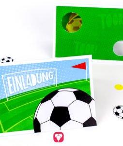 Fussball Geburtstagsset Basic - Einladung