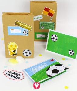 Fussball Geburtstagsset Basic - balloonas