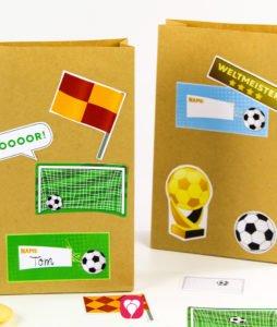 Fussball Geburtstagsset Basic - Geschenkaufkleber