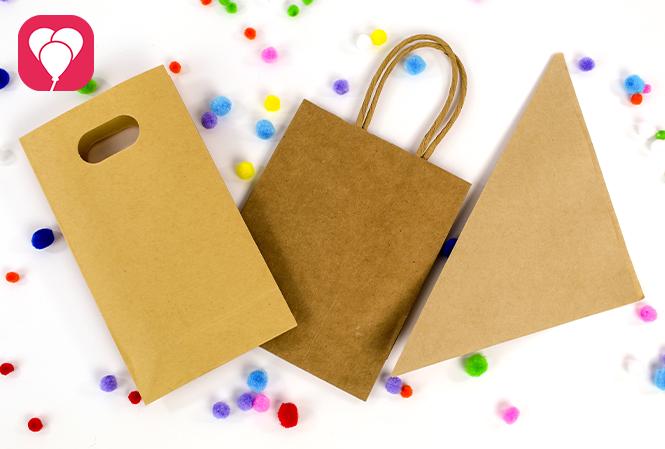 Gastgeschenke verpacken für den Kindergeburtstag - Papiertüten
