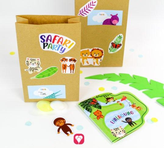Safari Geburtstagsset Basic - balloonas