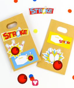 Bowling Gift Stickers - balloonas