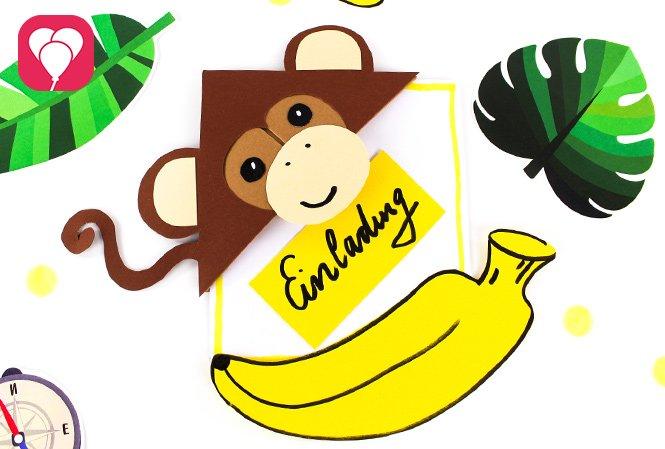DIY Dschungel Einladung für den Dschungel Kindergeburtstag