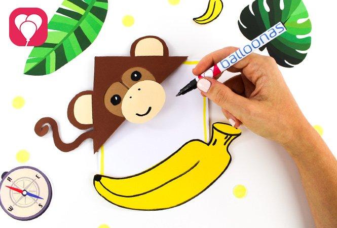 DIY Dschungel Einladung für den Dschungel Kindergeburtstag - beschriften