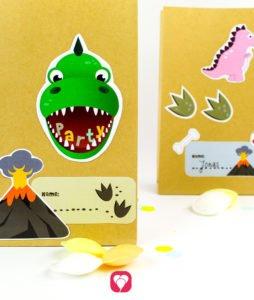 Dinosaur Gift Stickers - balloonas