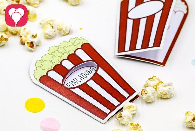 Kindergeburtstag im Kino - Einladung balloonas