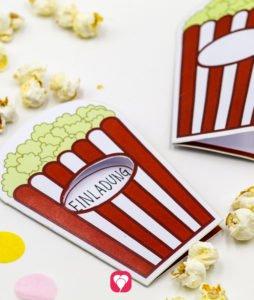Kino Geburtstagsset Basic - Kino Einladung