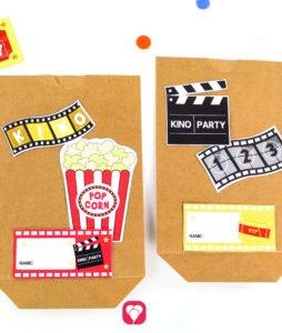 Kino Geburtstagsset Basic - Geschenkaufkleber