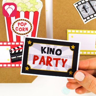 Kindergeburtstag im Kino feiern - balloonas