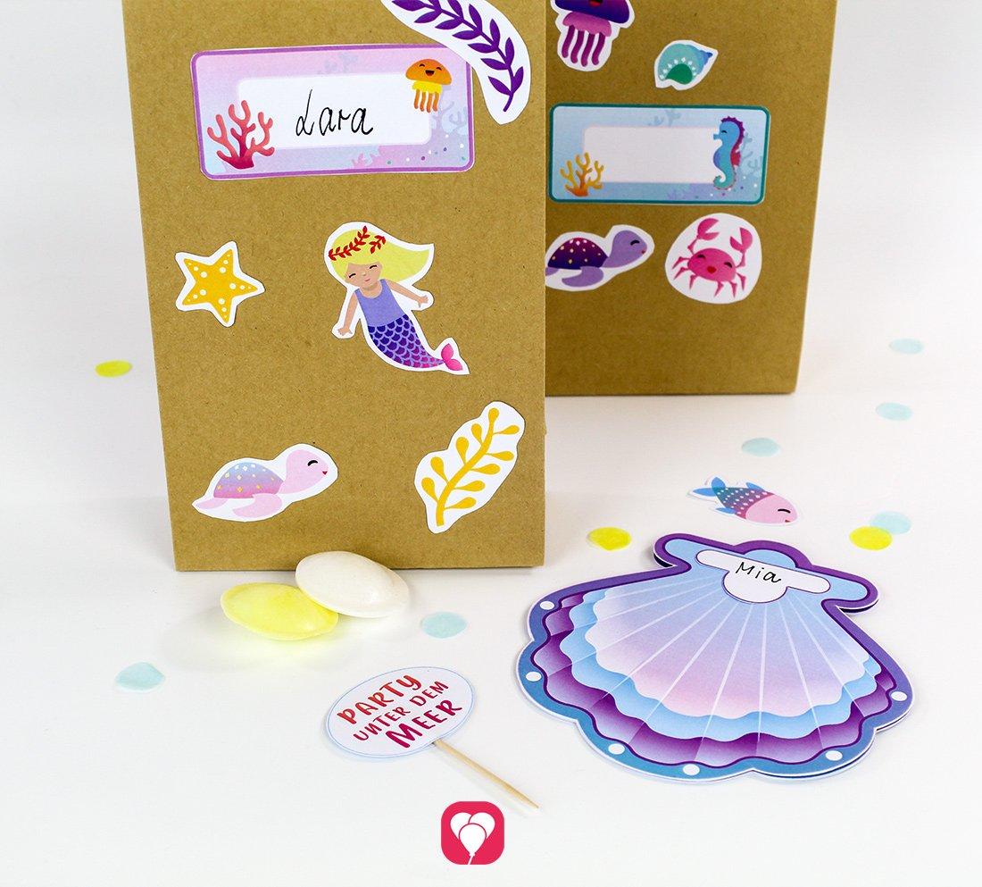Meerjungfrau Geburtstagsset - Basic