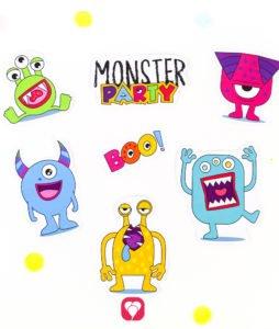 Monster Geschenkaufkleber - Monster Motive