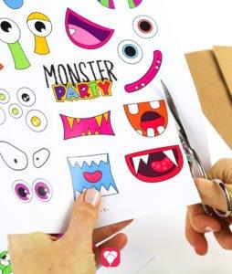 Monster Geschenkaufkleber - Motive ausschneiden