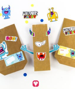 Monster Geschenkaufkleber - balloonas