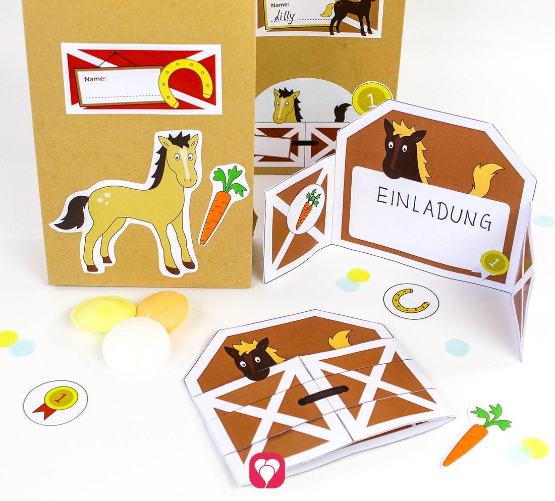 Pferde Geburtstag Set - Basic