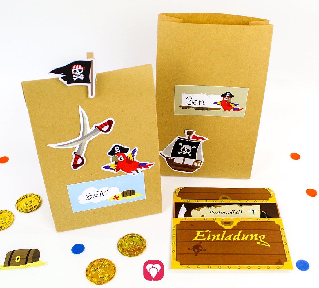 Piraten Geburtstag Set - Basic