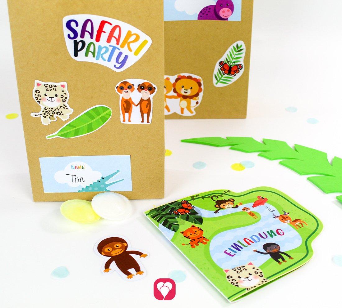 Safari Geburtstagsset - Basic
