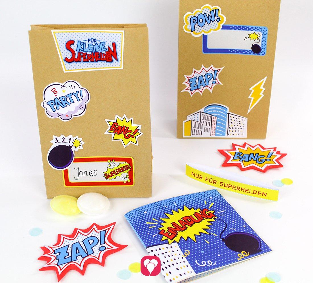 Superhelden Geburtstagsset - Basic