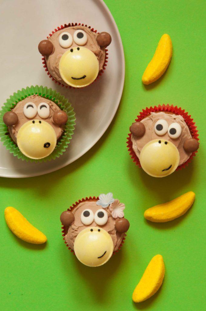 backen mit Kindern - Affenbande Cupcakes