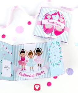 Ballerina Birthday Set - invitation