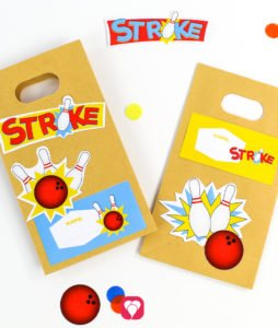 Bowling Birthday Set - stickers