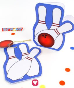 Bowling Birthday Set - Invitation