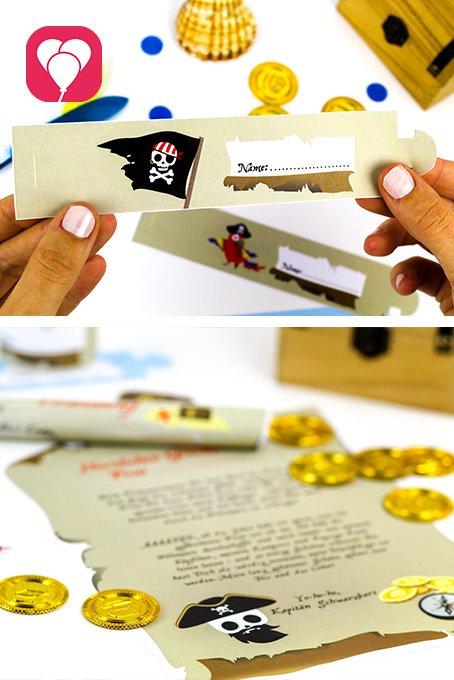 DIY Ideen mit Kindern - Piraten Schatzsuche