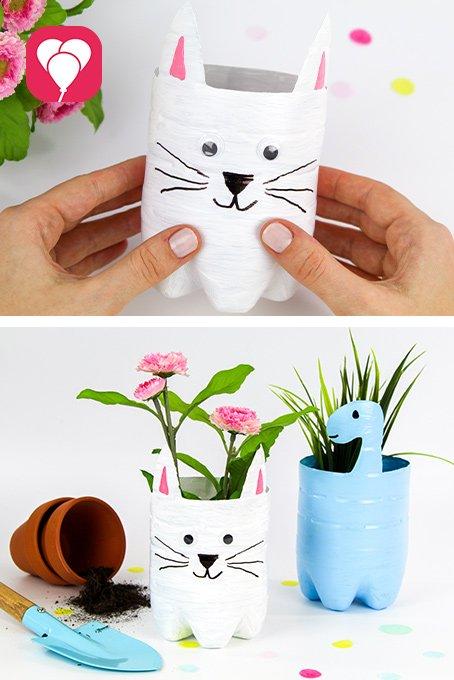 DIY Spiele Ideen mit Kindern für den Garten - Upcycling Blumentopf