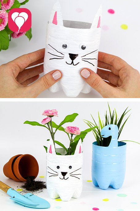 DIYIden mit Kindern - Upcycling Blumentopf