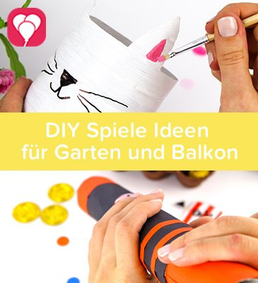 DIY Spiele Ideen mit Kindern für den Garten - balloonas