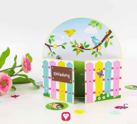Gardening Kindergeburtstag Einladung - balloonas