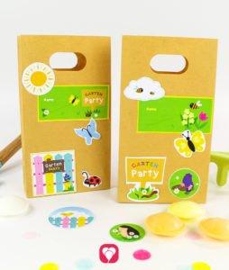 Gardening Kindergeburtstag Set - Geschenkaufkleber
