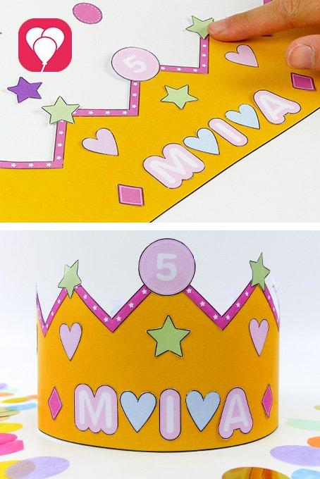 Geburtstagskrone basteln - balloonas