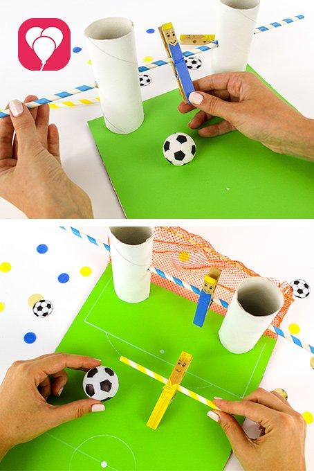Spiele ideen drinnen für Kinder ab 3 Jahren - Kicker DIY