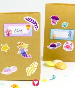 Mermaid Birthday Set - stickers