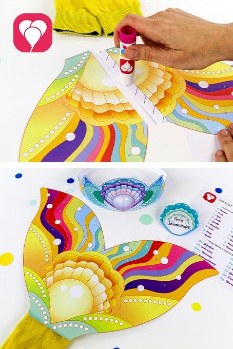 Spiele Ideen drinnen für Kinder ab 3 Jahren - Meerjungfrau verkleiden