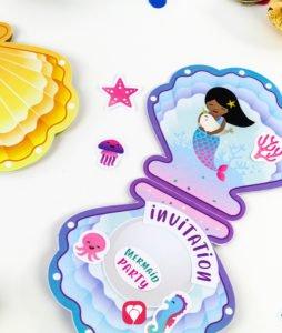 Mermaid Birthday Set - invitation