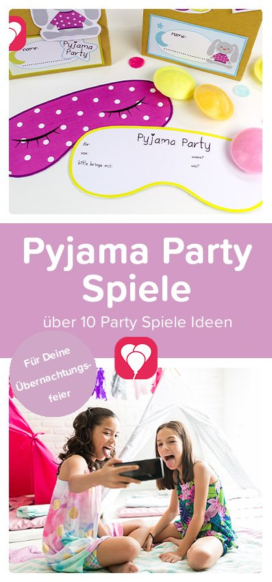 Pyjama Party Pinterest Pin - balloonas
