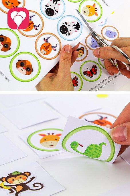 Indoor Spiele Ideen für Kindergarten Kinder - Safari Memory