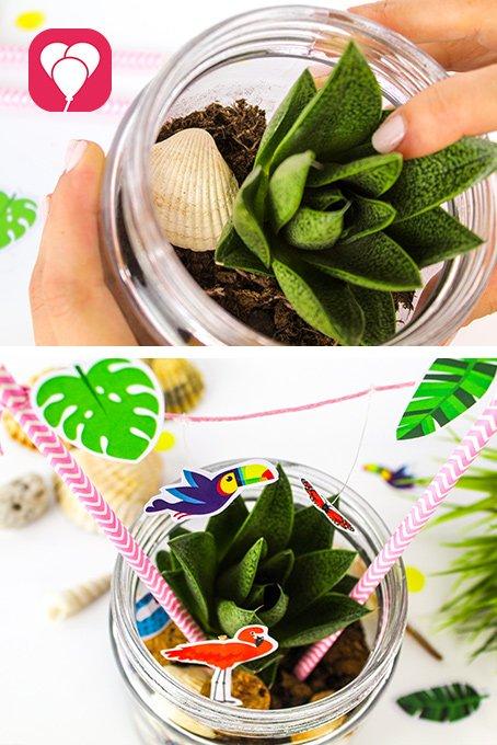 Spiele Ideen mit Kindern für den Garten- Pflanzglas