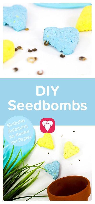 Seedbombs selbst machen - balloonas Pinterest Pin