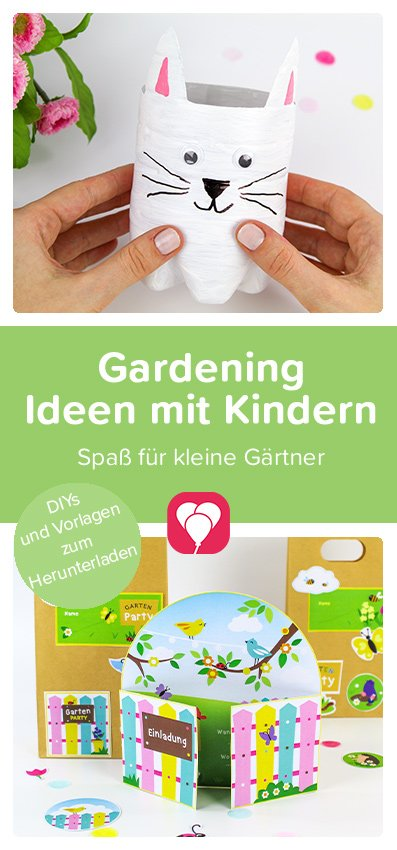 Gardening mit Kindern - Pinterest Pin