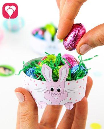 Mini Osternest basteln mit Kindern - balloonas